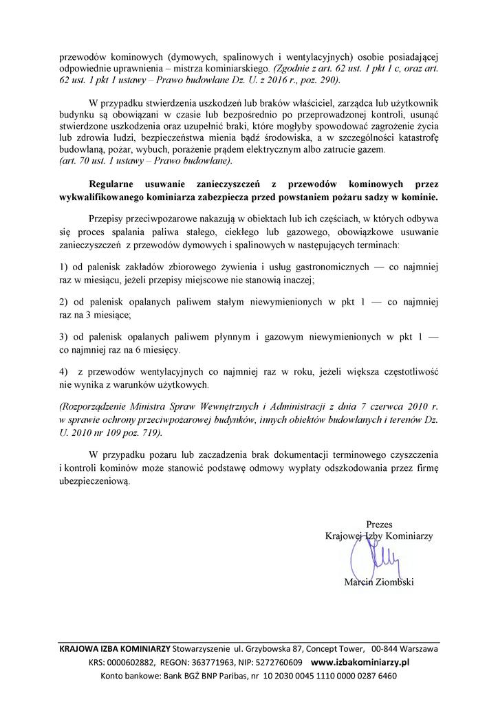 Komunikat Prezesa Krajowej Izby Kominiarzy 20172.png