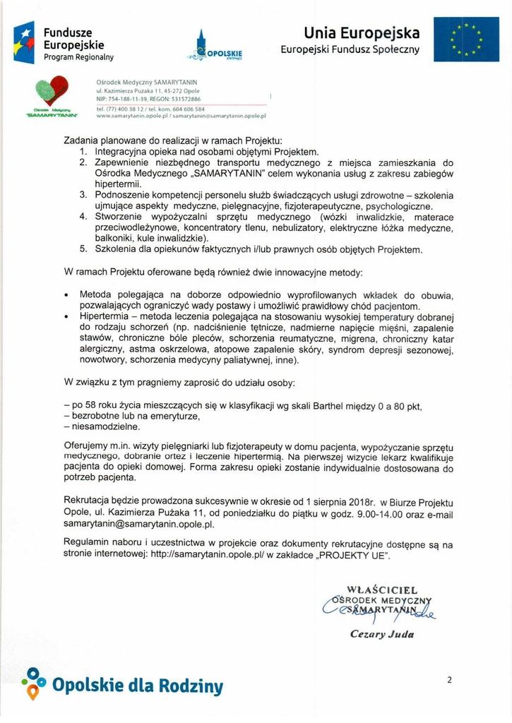 Pismo z informacją o projekcie_Mobilna opieka nad osobami starszymi_OM Samarytanin2.jpeg
