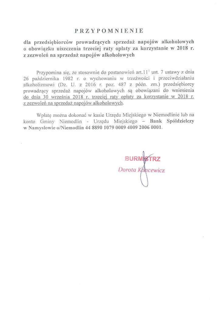 Przypomnienie o III racie opłaty za kozrystanie z zezwoleń1.png