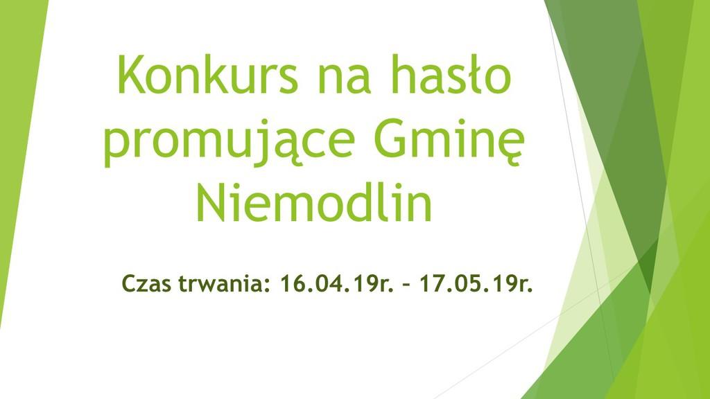 Konkurs na hasło promujące Gminę Niemodlin
