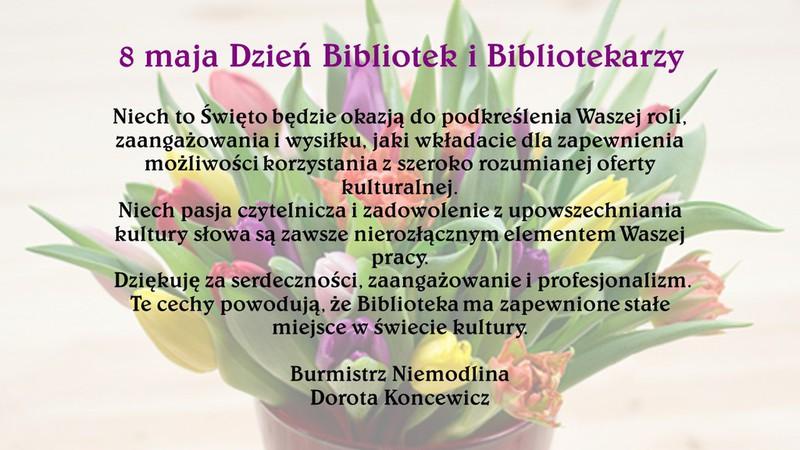 życzenia dla bibliotekarzy