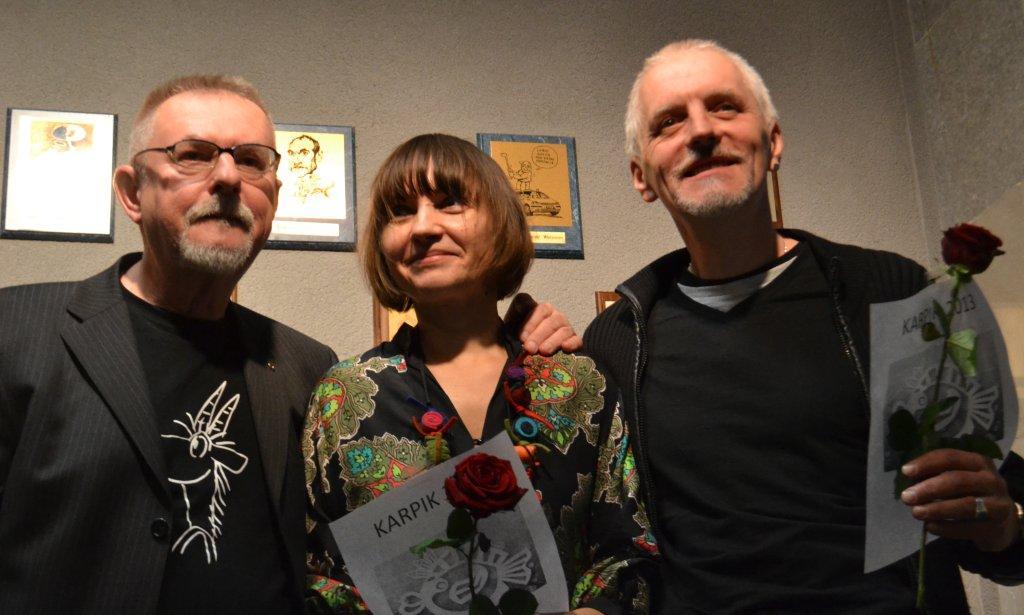 Ściana satyryków Wiesław Zięba, Magdalena Wosik i Tomasz Rzeszutek (2).jpeg