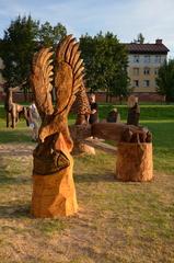 Galeria Transgraniczna wystawa i plener rzeźbiarski w Prażmie